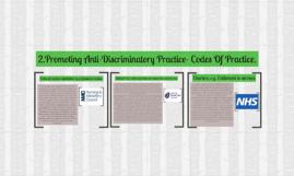 Promoting Anti-Discriminatory Practice- Codes Of Practice.