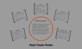 Host Team Training - Roles