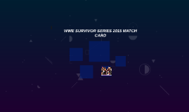 WWE SURVIVOR SERIES 2015 MATCH CARD