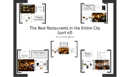 The Best Restaurants in the Entire City