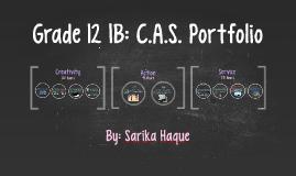 Grade 12 IB: C.A.S. Portfolio