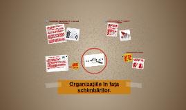 Organizaţiile în faţa schimbărilor