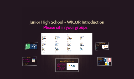 Junior High School - WICOR Introduction
