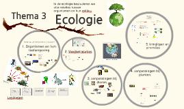 Thema  3 Klas 4 Ecologie