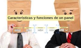 Copy of Características y funciones de un panel