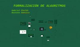 FORMALIZACIÓN DE ALGORITMOS