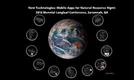 Mobile Apps for Natural Resource Management