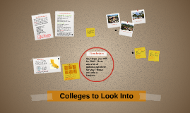 Colleges to Look Into