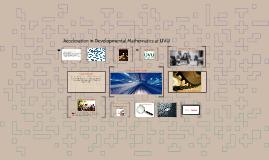 Copy of Acceleration in Developmental Mathematics at UVU