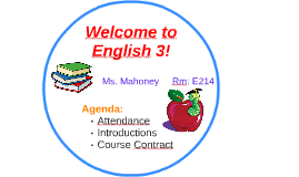 Welcome to English 3!