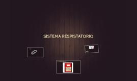 SISTEMA RESPISTATORIO