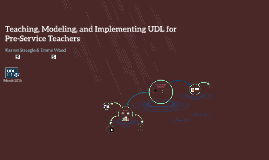 Teaching, Modeling, & Implementing UDL for Preservice Teachers