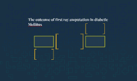 The outcome of first ray amputation in diabetic Mellitus