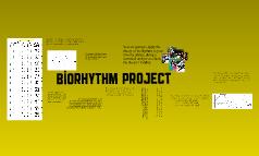 Biorhythm project