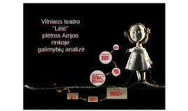 """Vilniaus teatro """"Lėlė"""""""