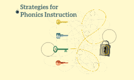 Strategies for Phonics Instruction