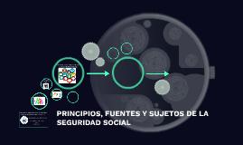 PRINCIPIOS, FUENTES Y SUJETOS DE LA SEGURIDAD SOCIAL