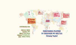 PANITIKANG PILIPINO