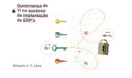 Governança em TI para implementação de ERP's