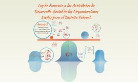 Ley de Fomento a las Actividades de Desarrollo Social de las