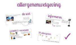 allergenen - wetgeving TWS
