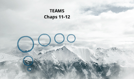 TEAMS Chaps 11-12