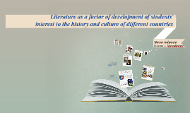 Literature as a factor of development of students'