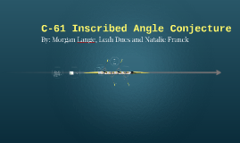 C-61 Inscribed Angle Conjecture