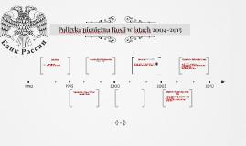 Polityka pieniężna Rosji w latach 2010-2015