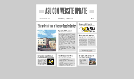 ASU COM WEBSITE UPDATE