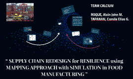 """ SUPPLY CHAIN REDESIGN for RESILIENCE using MAPPING APPROAC"