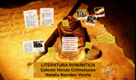 Copy of LITERATURA ROMANTICA