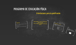 PROGRAMA DE EDUCACIÓN FÍSICA