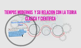 TIEMPOS MODERNOS  Y SU RELACION CON LA TEORIA CLASICA Y CIEN