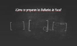 ¿Cómo se prepeara Bunuelos de Yuca?