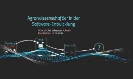 Agrarwissenschaftler in der Softwareentwicklung