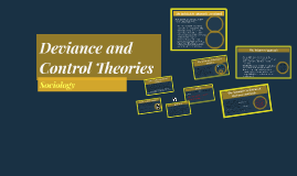 Deviance and Control Theories