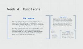 Week 4: Functions