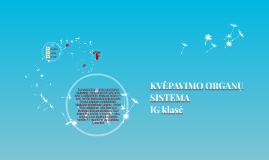 KVĖPAVIMO ORGANŲ SISTEMA IG klasė
