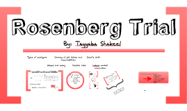 Rosenberg Trial: Grade 12 Law