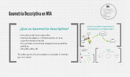Geometría Descriptiva en Nuestras Carreras