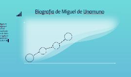 Biografia de Miguel de Unamuno
