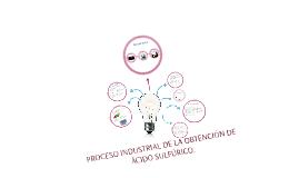 Copy of PROCESO INDUSTRIAL DE LA OBTENCIÓN DE ÁCIDO SULFÚRICO.