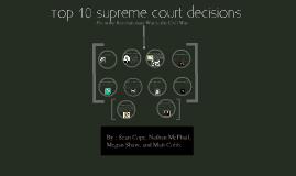 Copy of Top Ten Supreme Court Decisions