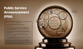 Copy of Public Service Announcements (PSA)