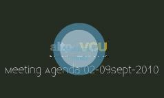 Meeting Agenda 02-09Sept-2010