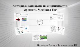 Методи за запазване на анонимност в мрежата. Мрежата Tor