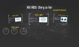 HIV/AIDS: Story so far