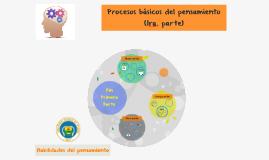 Procesos básicos del  pensamiento 1