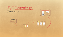E/O Learnings